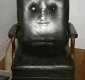 My friend's chair is creepy…