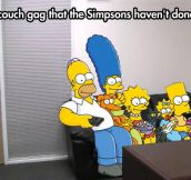 Another Simpsons couch gag…