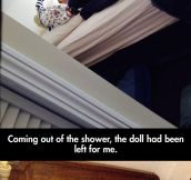 Creepy doll war…