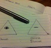 Chinese illuminati…