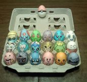 Pokemon painted eggs…
