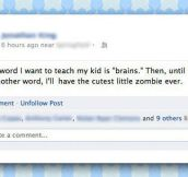 Cutest baby zombie ever…