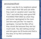 First contracted murder…