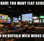 Too many flat screens…