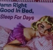 I'm good in bed…