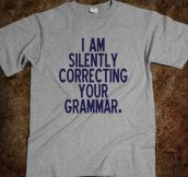 Perfect shirt for English majors…