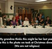 The last dinner with grandma…