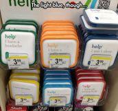 I'd choose the light blue…