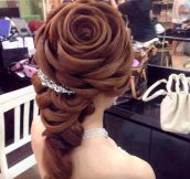 Wedding hair perfection…