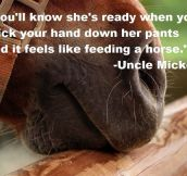 Classic uncle Mickey…