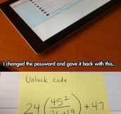 This teacher deserves an award…
