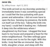 Found this review while looking for a new knife…