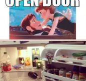 Love is an open door…