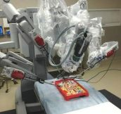 The best test for robotic surgery equipment…