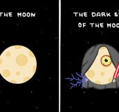 The real dark side of the moon…
