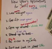 Rearranging new year's resolutions…