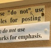 Grammar in the office…