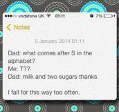 British dad jokes…