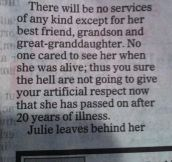 Badass obituary…