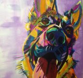 Breathtaking beautiful dog painting…