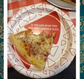 The best plate for pizza…