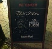 The Bacon Bad Burger…