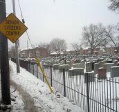 Unfortunate sign location…