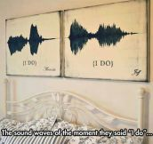 The sound of true love…