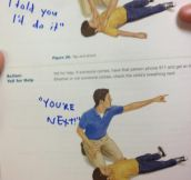 Textbook vandalism at its finest…