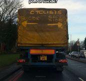 Cyclists beware…