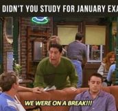 January exams soon
