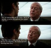 Alfred in The Dark Night