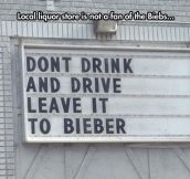 Don't pull a Bieber