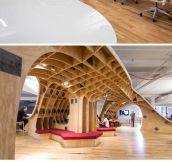 Giant curvy desk