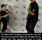 JOHN CENA GRANTS 400TH WISH TO TERMINALLY ILL KIDS