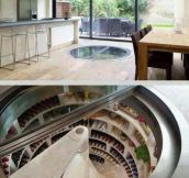 Kitchen with underground fridge