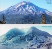 MOUNT ST. HELENS BEFORE AND AFTER MAY 18TH 1980 ERU