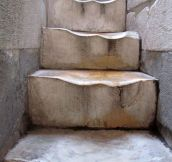 Old marble steps