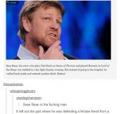Sean Bean is the man