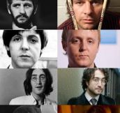 The Beatles and their sons
