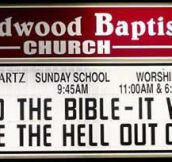 25 Super Funny Church Signs