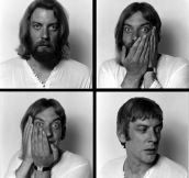 Donald Sutherland gets a haircut and a shave, 1970…