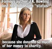 Good girl J.K.Rowling…