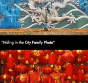 Chinese artist Liu Bolin paints himself to blend into his surroundings…