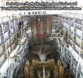 Soviet space shuttle…