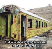Out of bridges? Try a train!