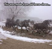 Built by Jay Russell, an Idaho horseshoer…