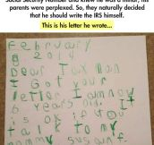 This kid's response is brilliant…