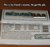 An innovative resume design…