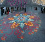 Beautiful sand paintings created by hand…